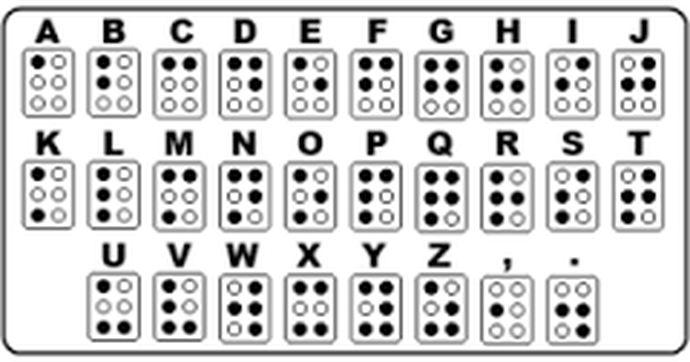 english braille alphabet
